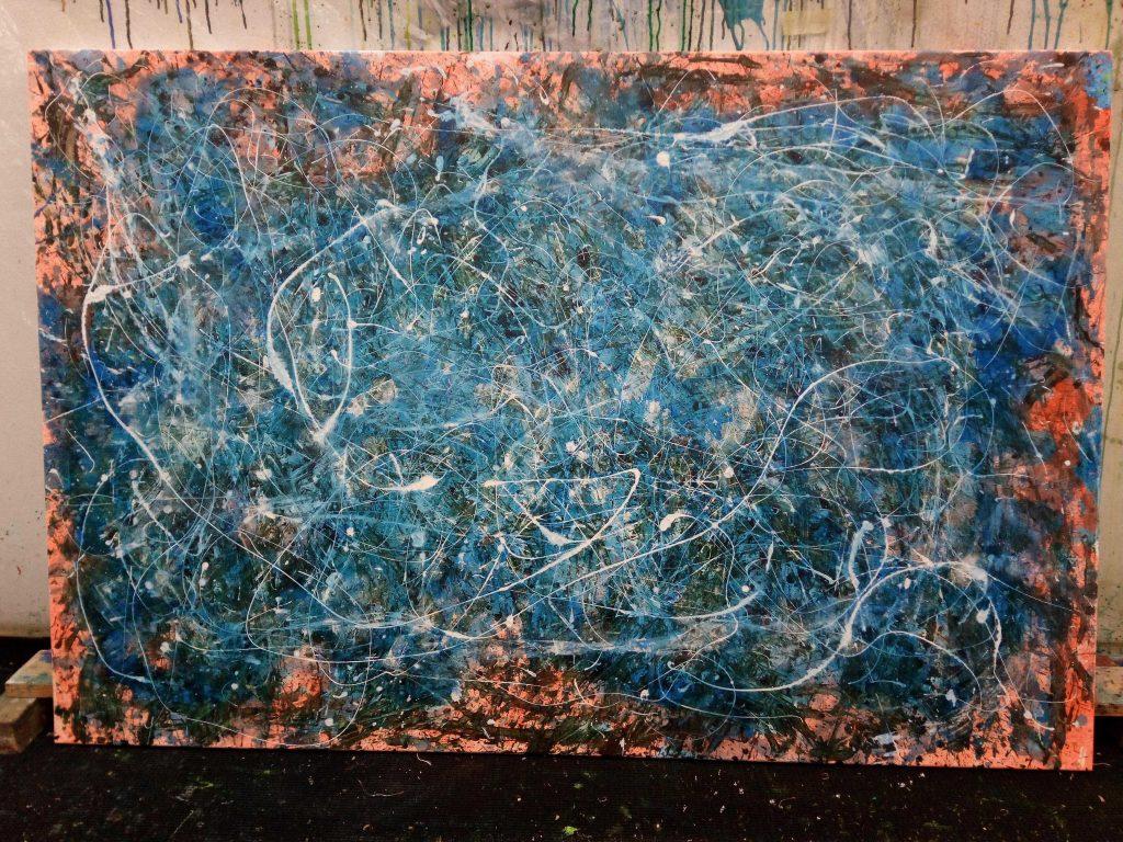 Abstrakte, moderne Malerei von Gerhard Knell -Action Painting